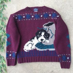 Woolrich Vintage Puppy Fair Isle Wool Sweater